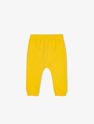 Koton Kids Düz Esofman Alti Sarı